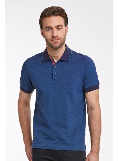 Hemington Pike Örgü Polo Yaka T-Shirt Lacivert